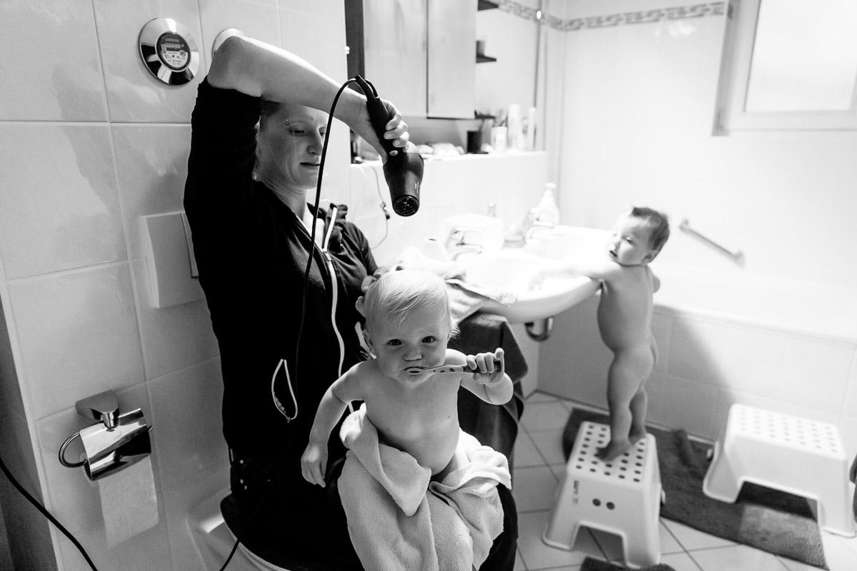 Familienreportage mit Baby Newborn